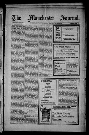 Primary view of object titled 'The Manchester Journal. (Manchester, Okla. Terr.), Vol. 11, No. 21, Ed. 1 Friday, October 30, 1903'.