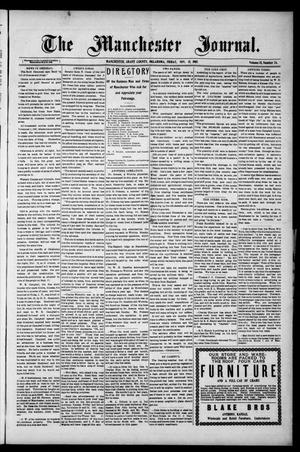 Primary view of object titled 'The Manchester Journal. (Manchester, Okla.), Vol. 15, No. 24, Ed. 1 Friday, November 15, 1907'.