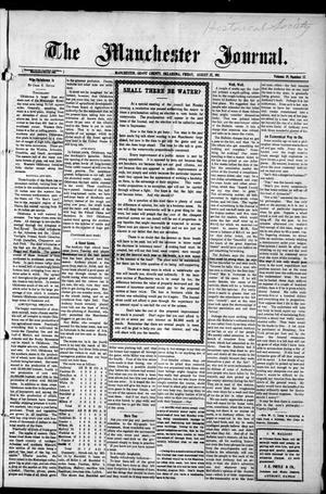 Primary view of object titled 'The Manchester Journal. (Manchester, Okla.), Vol. 19, No. 12, Ed. 1 Friday, August 25, 1911'.