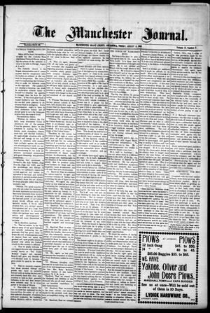 Primary view of object titled 'The Manchester Journal. (Manchester, Okla.), Vol. 17, No. 11, Ed. 1 Friday, August 13, 1909'.