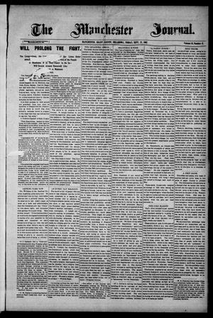 Primary view of object titled 'The Manchester Journal. (Manchester, Okla.), Vol. 15, No. 17, Ed. 1 Friday, September 27, 1907'.