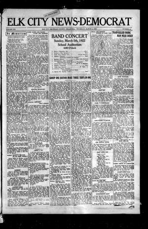 Primary view of object titled 'Elk City News-Democrat (Elk City, Okla.), Vol. 19, No. 44, Ed. 1 Thursday, March 2, 1922'.