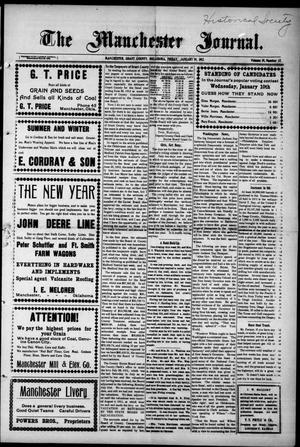 Primary view of object titled 'The Manchester Journal. (Manchester, Okla.), Vol. 19, No. 33, Ed. 1 Thursday, January 19, 1911'.