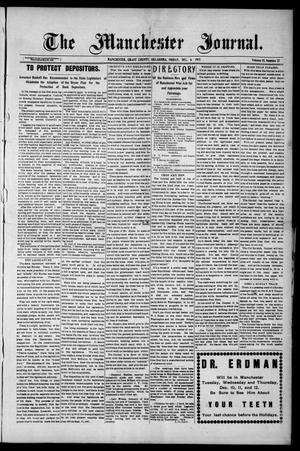Primary view of object titled 'The Manchester Journal. (Manchester, Okla.), Vol. 15, No. 27, Ed. 1 Friday, December 6, 1907'.