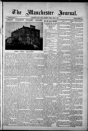 Primary view of object titled 'The Manchester Journal. (Manchester, Okla.), Vol. 15, No. 46, Ed. 1 Friday, April 17, 1908'.