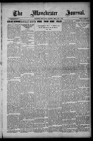 Primary view of object titled 'The Manchester Journal. (Manchester, Okla.), Vol. 15, No. 10, Ed. 1 Friday, August 9, 1907'.
