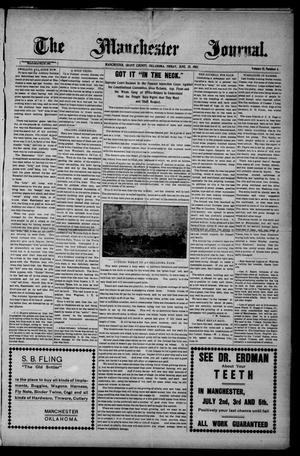 Primary view of object titled 'The Manchester Journal. (Manchester, Okla.), Vol. 15, No. 4, Ed. 1 Friday, June 28, 1907'.