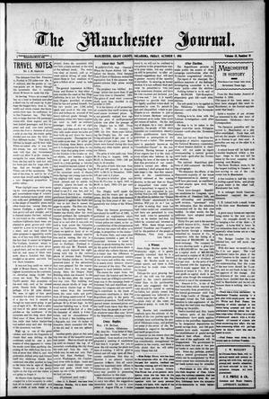 Primary view of object titled 'The Manchester Journal. (Manchester, Okla.), Vol. 18, No. 18, Ed. 1 Friday, October 7, 1910'.