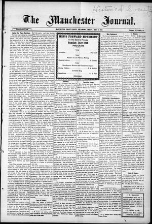 Primary view of object titled 'The Manchester Journal. (Manchester, Okla.), Vol. 20, No. 6, Ed. 1 Wednesday, July 12, 1911'.
