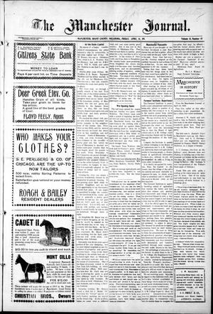 Primary view of object titled 'The Manchester Journal. (Manchester, Okla.), Vol. 18, No. 45, Ed. 1 Friday, April 14, 1911'.