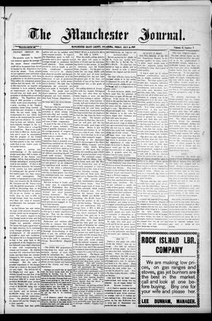 Primary view of object titled 'The Manchester Journal. (Manchester, Okla.), Vol. 17, No. 7, Ed. 1 Friday, July 16, 1909'.