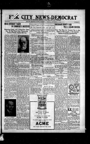 Primary view of object titled 'Elk City News-Democrat (Elk City, Okla.), Vol. 19, No. 21, Ed. 1 Thursday, September 22, 1921'.