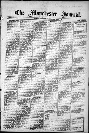 Primary view of object titled 'The Manchester Journal. (Manchester, Okla.), Vol. 19, No. 9, Ed. 1 Friday, August 4, 1911'.