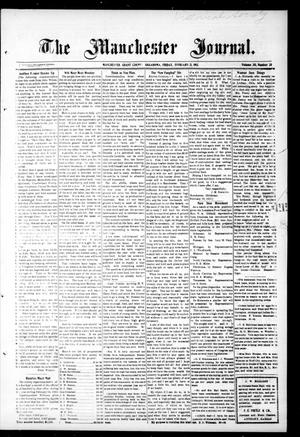 Primary view of object titled 'The Manchester Journal. (Manchester, Okla.), Vol. 20, No. 38, Ed. 1 Friday, February 21, 1913'.