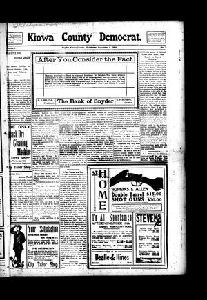 Primary view of object titled 'Kiowa County Democrat. (Snyder, Okla.), Vol. 5, No. 2, Ed. 1 Thursday, November 4, 1909'.