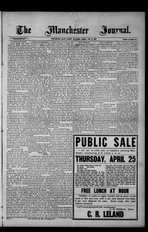 Primary view of object titled 'The Manchester Journal. (Manchester, Okla.), Vol. 14, No. 46, Ed. 1 Friday, April 19, 1907'.
