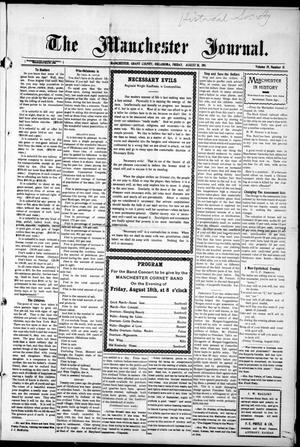 Primary view of object titled 'The Manchester Journal. (Manchester, Okla.), Vol. 19, No. 11, Ed. 1 Friday, August 18, 1911'.