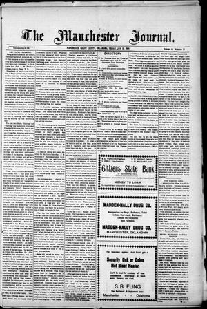 Primary view of object titled 'The Manchester Journal. (Manchester, Okla.), Vol. 16, No. 33, Ed. 1 Friday, January 15, 1909'.