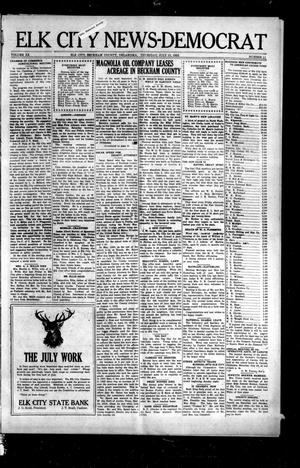 Primary view of object titled 'Elk City News-Democrat (Elk City, Okla.), Vol. 20, No. 11, Ed. 1 Thursday, July 13, 1922'.