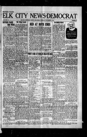 Primary view of object titled 'Elk City News-Democrat (Elk City, Okla.), Vol. 20, No. 27, Ed. 2 Thursday, November 2, 1922'.