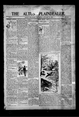 Primary view of object titled 'The Altus Plaindealer. (Altus, Okla.), Vol. 1, No. 29, Ed. 1 Thursday, January 13, 1898'.