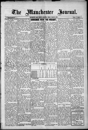 Primary view of object titled 'The Manchester Journal. (Manchester, Okla.), Vol. 17, No. 41, Ed. 1 Friday, March 18, 1910'.