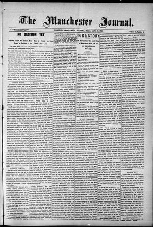 Primary view of object titled 'The Manchester Journal. (Manchester, Okla.), Vol. 16, No. 4, Ed. 1 Friday, June 26, 1908'.