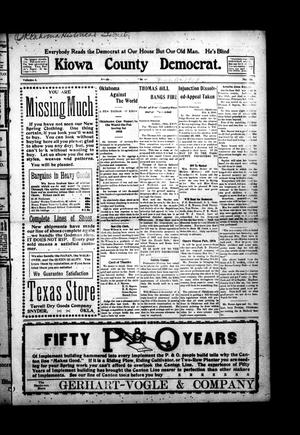 Primary view of object titled 'Kiowa County Democrat. (Snyder, Okla.), Vol. 4, No. 16, Ed. 1 Thursday, February 11, 1909'.
