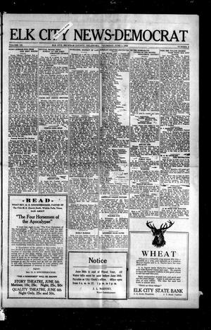 Primary view of object titled 'Elk City News-Democrat (Elk City, Okla.), Vol. 20, No. 5, Ed. 1 Thursday, June 1, 1922'.