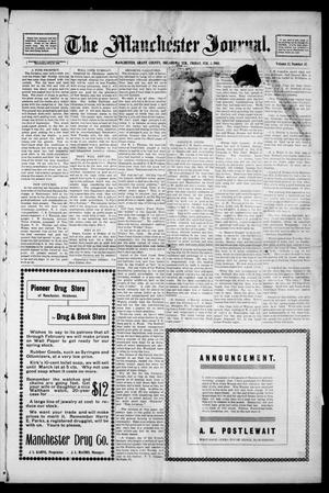 Primary view of object titled 'The Manchester Journal. (Manchester, Okla. Terr.), Vol. 12, No. 35, Ed. 1 Friday, February 3, 1905'.