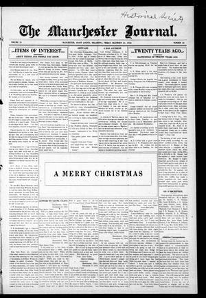 Primary view of object titled 'The Manchester Journal. (Manchester, Okla.), Vol. 24, No. 30, Ed. 1 Friday, December 22, 1916'.