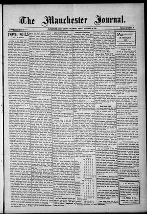 Primary view of object titled 'The Manchester Journal. (Manchester, Okla.), Vol. 18, No. 15, Ed. 1 Friday, September 16, 1910'.