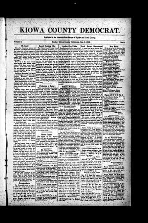 Primary view of object titled 'Kiowa County Democrat. (Snyder, Okla.), Vol. 1, No. 6, Ed. 1 Thursday, December 7, 1905'.