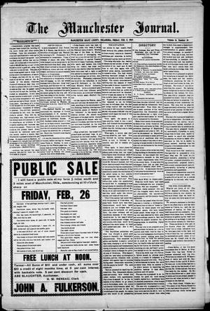 Primary view of object titled 'The Manchester Journal. (Manchester, Okla.), Vol. 16, No. 37, Ed. 1 Friday, February 12, 1909'.