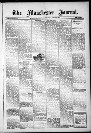 Primary view of object titled 'The Manchester Journal. (Manchester, Okla.), Vol. 18, No. 14, Ed. 1 Friday, September 9, 1910'.