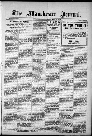 Primary view of object titled 'The Manchester Journal. (Manchester, Okla.), Vol. 16, No. 11, Ed. 1 Friday, August 14, 1908'.