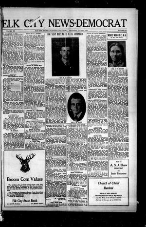 Primary view of object titled 'Elk City News-Democrat (Elk City, Okla.), Vol. 20, No. 13, Ed. 1 Thursday, July 27, 1922'.