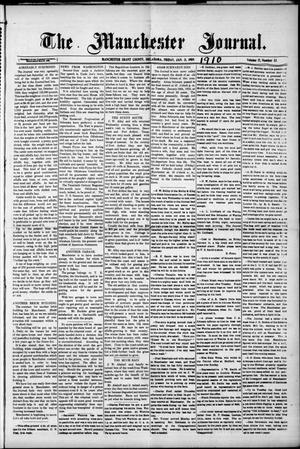 Primary view of object titled 'The Manchester Journal. (Manchester, Okla.), Vol. 17, No. 33, Ed. 1 Friday, January 21, 1910'.