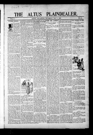 Primary view of object titled 'The Altus Plaindealer. (Altus, Okla.), Vol. 1, No. 45, Ed. 1 Thursday, May 5, 1898'.
