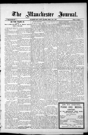 Primary view of object titled 'The Manchester Journal. (Manchester, Okla.), Vol. 17, No. 1, Ed. 1 Friday, June 4, 1909'.