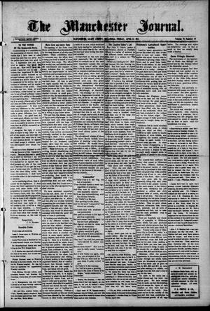 Primary view of object titled 'The Manchester Journal. (Manchester, Okla.), Vol. 19, No. 45, Ed. 1 Wednesday, April 12, 1911'.