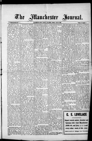 Primary view of object titled 'The Manchester Journal. (Manchester, Okla.), Vol. 17, No. 4, Ed. 1 Friday, June 25, 1909'.