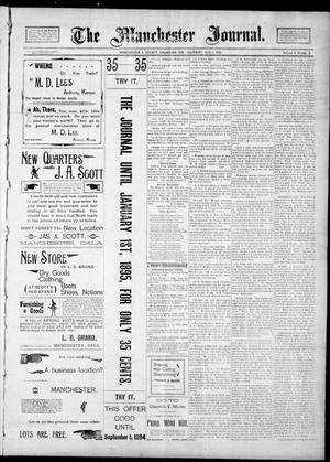 Primary view of object titled 'The Manchester Journal. (Manchester, Okla. Terr.), Vol. 2, No. 9, Ed. 1 Thursday, August 9, 1894'.