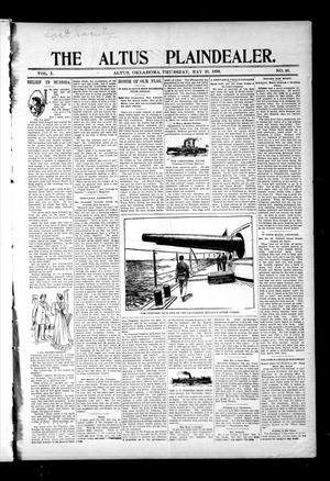 Primary view of object titled 'The Altus Plaindealer. (Altus, Okla.), Vol. 1, No. 48, Ed. 1 Thursday, May 26, 1898'.