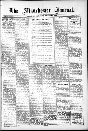 Primary view of object titled 'The Manchester Journal. (Manchester, Okla.), Vol. 18, No. 17, Ed. 1 Friday, September 30, 1910'.