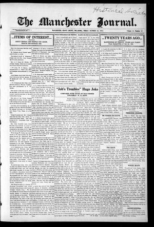 Primary view of object titled 'The Manchester Journal. (Manchester, Okla.), Vol. 23, No. 21, Ed. 1 Friday, October 22, 1915'.