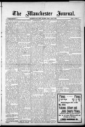 Primary view of object titled 'The Manchester Journal. (Manchester, Okla.), Vol. 17, No. 12, Ed. 1 Friday, August 20, 1909'.