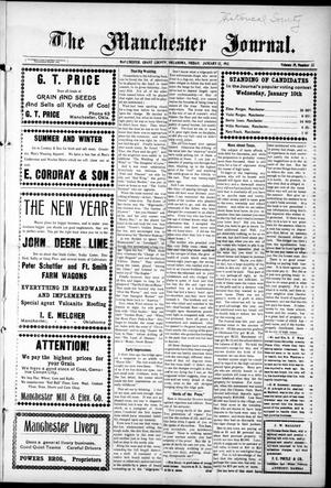 Primary view of object titled 'The Manchester Journal. (Manchester, Okla.), Vol. 19, No. 32, Ed. 1 Thursday, January 12, 1911'.