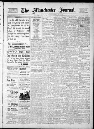Primary view of object titled 'The Manchester Journal. (Manchester, Okla. Terr.), Vol. 2, No. 20, Ed. 1 Thursday, October 25, 1894'.