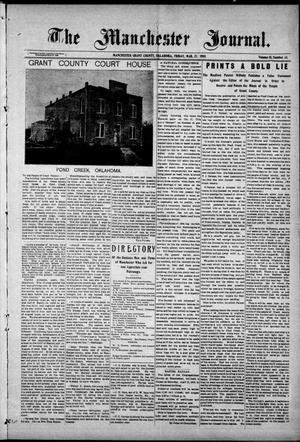 Primary view of object titled 'The Manchester Journal. (Manchester, Okla.), Vol. 15, No. 43, Ed. 1 Friday, March 27, 1908'.